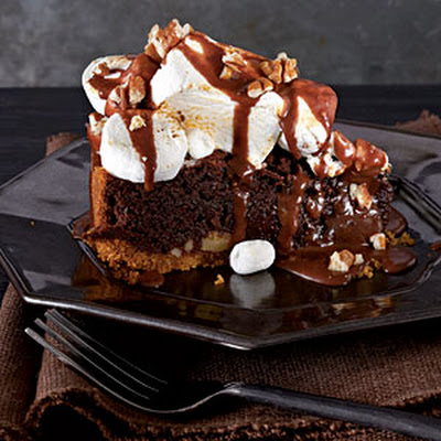 Mississippi Mud S'Mores-Fudge Pie