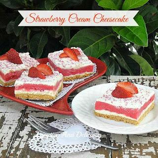 Strawberry Pudding Cream Cheese Cake Recipes