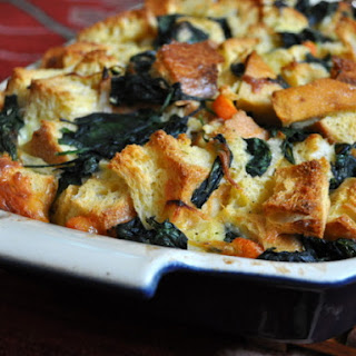 Irish Cheddar and Vegetable Bread Pudding