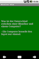 Screenshot of Blondinen Witze