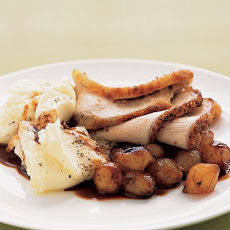 Roasted Pork Loin with Pearl Onions