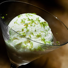 Kaffir Lime and Gin Ice Cream