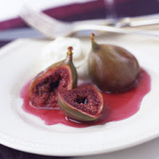 Baked Figs with Grand Marnier and Whipped Cream