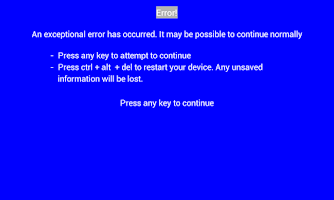 Screenshot of Error Screen Free