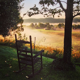 The world is full of empty chairs. by Lana Owens - Instagram & Mobile iPhone ( Chair, Chairs, Sitting )