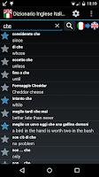 Screenshot of Offline English Italian Dict.