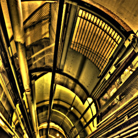 Elevator shaft by Derrill Grabenstein - Buildings & Architecture Architectural Detail ( elevator, stairs, cirular stairs, elevator shaft, shalft )