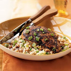 Spiced Chicken with Black-Eyed Peas and Rice