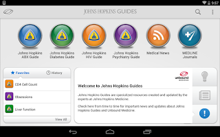 Screenshot of Johns Hopkins Guides ABX...