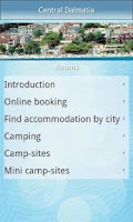 Screenshot of Central Dalmatia travel guide