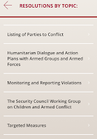 Screenshot of Children and Armed Conflict