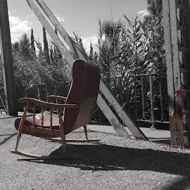 My chair by Joaquim Soares - Artistic Objects Antiques ( chair, bridge, shadows )
