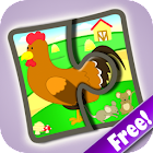 Kids Jigsaw Puzzles Farm Free icon