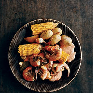 Shrimp Boil with Spicy Horseradish Sauce