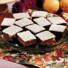 Glazed Orange Date Squares