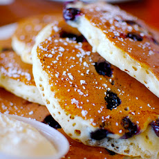 Blueberry Buttermilk Oatmeal Pancakes