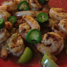 Grilled Shrimp With Tomatillos