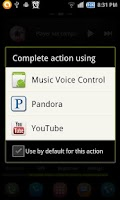 Screenshot of Music Voice Control