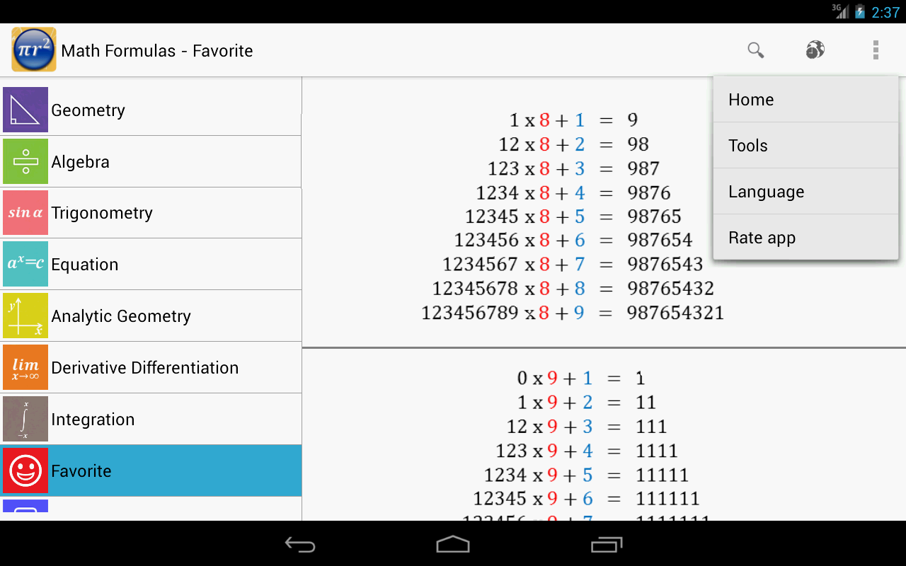 Maths Formulas Free Screenshot 8