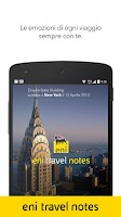 Screenshot of eni travel notes