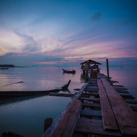 Waiting For Sunrise Again by Lim Louis - Landscapes Sunsets & Sunrises