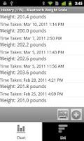 Screenshot of Bluetooth Weight Scale