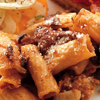 Baked Rigatoni with Sausage and Mushrooms