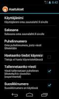 Screenshot of SaunaSMS