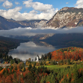 Fall over the lake by Jože Borišek - Landscapes Mountains & Hills ( bohinj-slovenia )