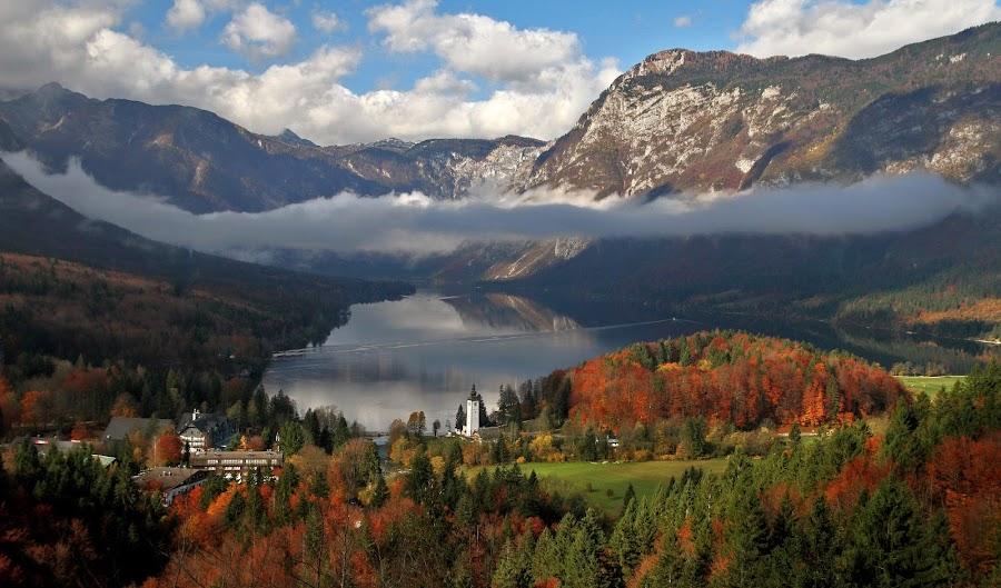 Fall over the lake by Jože Borišek - Landscapes Mountains & Hills ( bohinj-slovenia )