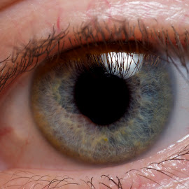 Self-Portrait by Jeremy Clarke - People Body Parts ( dcr-250, macro, raynox, iris, closeup, eyes )