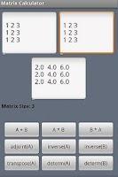 Screenshot of Matrix Calculator