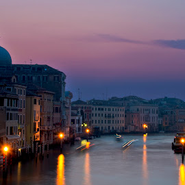Grand Canal by Heather Allen - Buildings & Architecture Other Exteriors ( grand canal, venice, sunrise, canal, italy,  )