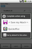 Screenshot of Save my Attach