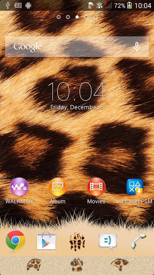 XPERIA™ African Leopard Theme Screenshot