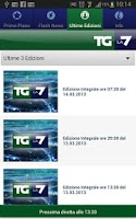 Screenshot of TG La7 Mobile