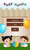 Screenshot of 50000+American Baby Names