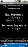 Screenshot of SI Ferry Schedule