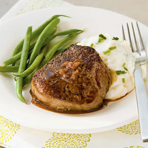 Beef Tenderloin Steaks with Port Reduction and Blue Cheese Recipe ...