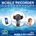 Mobile voice recorder light icon