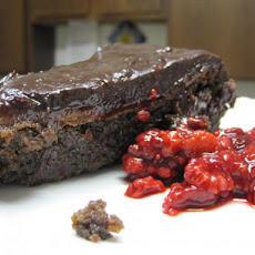 Flourless Chocolate Cake With Marzipan and Raspberries