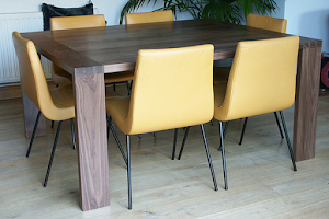 Modern Dining Table - Large Dovetailed Joints in American Black Walnut