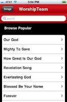 Screenshot of WorshipTeam.com