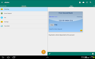 Screenshot of eWallet - Password Manager