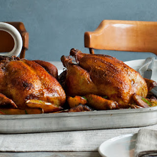 Pimentón Roast Chickens with Crispy Potatoes