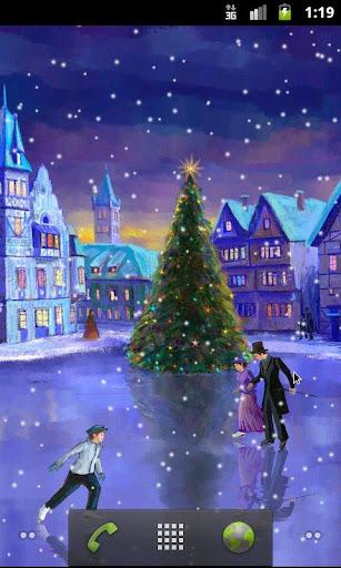 聖誕溜冰場動態壁紙