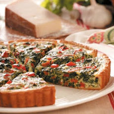 Pepperoni Spinach Quiche Recipe