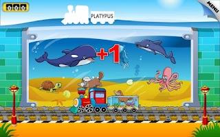 Screenshot of Kids Animal Train - First Word