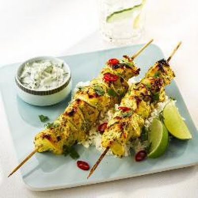 Chicken And Goats' Yoghurt Tikka Kebabs