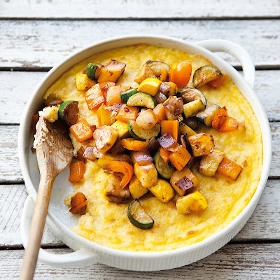 Polenta with Fontina and Roasted Vegetables
